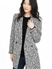 BANANA REPUBLIC Chevron Jacquard NEW Double Breasted Peacoat Women Size S
