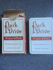 vintage Gallaher PARK DRIVE cigarette playing cards - early CARTA MUNDI jokers