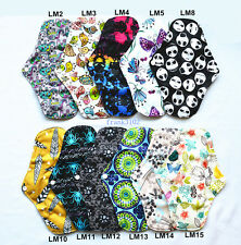 6 LONG Panty Liners CHARCOAL Bamboo Reusable Cloth Mama Menstrual Pads 10inch