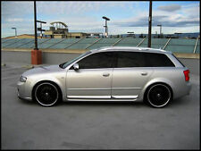 AUDI A4 B6 B7 S4 LOOK SIDE DOOR BLADES + ROOF SPOILER SET AVANT / WAGON / COMBI