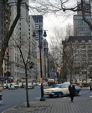 1958 NYC Street 5th Ave & W 60th St 8 x 10 Photograph