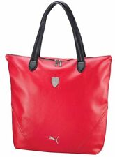 NEW PUMA FERRARI WOMEN'S PREMIUM F1 TEAM SHOPPING TOTE LARGE BAG RED PMMO1033