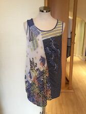 Leslie Top Size 14 BNWT Blue Lemon Grey Cream RRP £190 Now £69