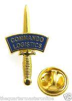 Royal Marines Commando Logistic Regiment Dagger Lapel Pin Badge
