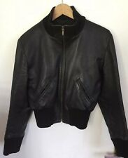 Amazing British Hand Made Butter Soft Leather Bomber Jacket Size M £450