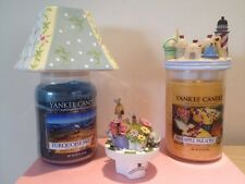 3 CANDLE JAR TOPPERS,FIT, YANKEE. WOODWICK HOME INTERIOR CANDLES  ETC