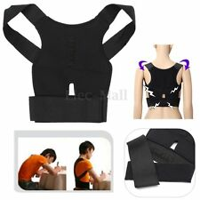 New Back Posture Corrector Support Correction Lumbar Shoulder Brace Belt Therapy
