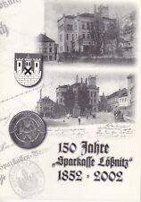 """150 Jahre """"Sparkasse Lößnitz"""" 1852 - 2002, Chronologie Geschichte Aue Erzgebirge"""