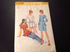 VINTAGE SIMPLICITY #5405 PATTERN FOR MISSES SIZE 9 MINI-DRESS OR TUNIC