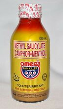 New Latest Stock OMEGA PAIN KILLER Liniment Menthol Large 120ml Fast USA Seller