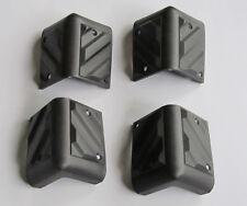 Set of 4 Black Plastic Guitar Amp Speaker Corner PA Cabinets Amplifier Protector