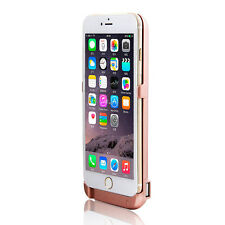 10000mAh RoseGold iPhone 6s Plus Rechargeable PowerBank Case w/ side USB port