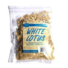 10 Grams White Lotus - crushed flowers wild-crafted (Nelumbo nucifera) THAILAND