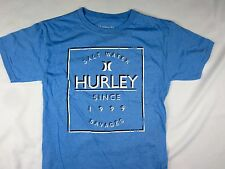 Hurley surf premium fit blue short sleeve tee shirt men's size SMALL