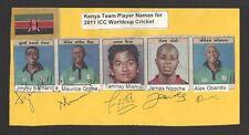 Kenya Cricket Autographs Kamande Ouma Mishra Ngoche Obanda