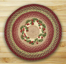 """CRANBERRIES 100% Natural Braided Jute Rug, 27"""" Round, Capitol Earth Rugs"""