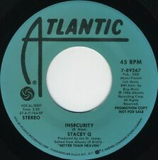STACEY Q Insecurity (1986 U.S. Double Side A Promo 7inch)