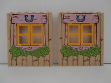 LEGO FRIENDS  2 sehr große  Wandelemente mit Fenster und Motiv 1x6x6 Noppen NEU