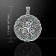Celtic WOLF Pendant 925 Sterling Silver Norse Viking Triskele Wolf energy amulet