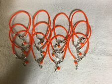 "One Dozen Bright  Orange  Leukemia Cancer ""Hope"" w/ Glass Bead Bracelets"