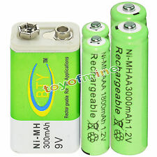 2xAA 3000mAh+2x AAA 1800mAh 1.2V NI-MH batteria ricaricabile+1x BTY 9V 300mAh