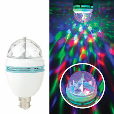 LED B22 Rotating Bulb Sound Activated RGB for Stage Disco Xmas DJ Bar