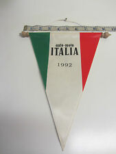 "Italian ""Auto Moto "" 1992 Classic Car / Classic Scooter/  Rally Souvenir Pennant"