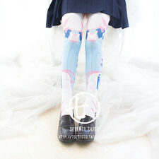 Overwatch Cute D.VA Game Harajuku Girl Lolita Princess Stockings Thigh-Highs