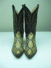 Vintage JUSTIN 8621 DISTRESSED COWBOY WESTERN ROCKABILLY SNAKE SKIN BOOTS 9.5D