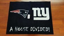 NFL New England Patriots vs NY Giants Rug Football House Divided Rivalry Carpet