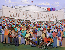 WE THE PEOPLE ORIGINAL PAINTING CUBISM WHITE HOUSE CONSTITUTION ANTHONY FALBO