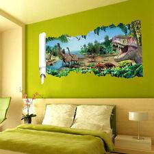 Wandtattoo Wandbild Wandaufkleber Kinderzimmer Dinosaurier Landschaft Sticker 3D