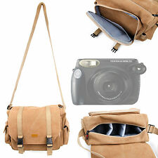 Tan Bag for Fujifilm Instax 210 / Mini 7S / Mini 25 / Mini 8 / Mini 90 / 50s