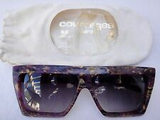 VINTAGE COURREGES PURPLE MULTICOLORED MOSAIC 8810 A 86 80'S HANDMADE FRANCE