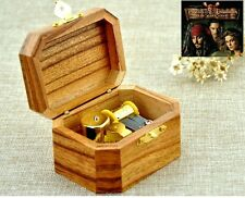 Natural Wood Octagon Wind Up Music Box : Pirates of the Caribbean Davy Jones