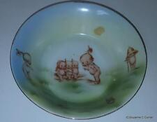 Antique Royal Rudolstadt Prussia Rose O'Neill Kewpie Bowl with Eight Kewpies