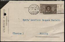1932 - Cartolina Postale  resa franca con cent. 10  Dante Alighieri - n.303
