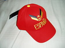 ADIDAS SPAIN ESPANA SPAGNA FOOTBALL CLUB HAT CAP CAPPELLO RED WC BRASIL 2014