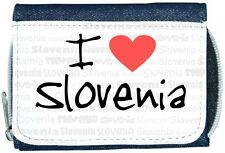 I Love Heart Slovenia Denim Wallet