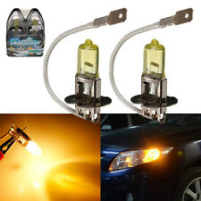 2X H3 Amber Yellow 55W Xenon HID Halogen 5900K Car Fog Headlight Light Bulb Auto