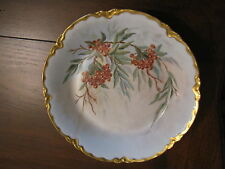 Antique  Rex Bavaria Porcelain Hand Painted Plate  Berrys Signed M.Mueller