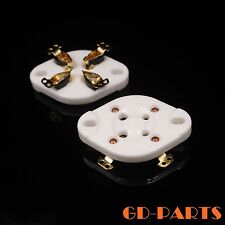 1PC 4PIN U4A Ceramic Tube socket FR 2A3 300B,811,45,71A,5Z3,572B,51 GOLD PLATED