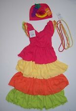 NWT Gymboree Sz 5-6 Carmen Miranda Samba Dancer Rio Costume Fruit Hat & Necklace