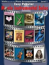 Easy Popular Movie Instrumental Solos Book & CD ( Violin ) (Pop Instrumental Sol