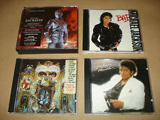 MICHAEL JACKSON FOUR (4) MUSIC CD ALBUMS – THRILLER – BAD – DANGEROUS - HIStory