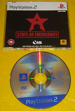 STATE OF EMERGENCY 1 Ps2 Versione Promo Europea gioco completo »»»»» SOLO DISCO