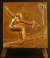 Medaille Ski Nautique à Juan les Pins  sc Clémencin sport 1952 medal