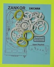 1986 Zaccaria Zankor pinball rubber ring kit