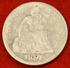 1891-P SEATED DIMEG COLLECTOR COIN GIFT CHECK OUT STORE SD25