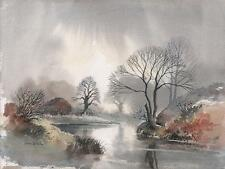 DAVID BELLAMY Watercolour Painting CALDON CANAL STAFFORDSHIRE c1985